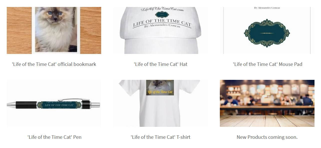 Merchandise - Life of the Time Cat